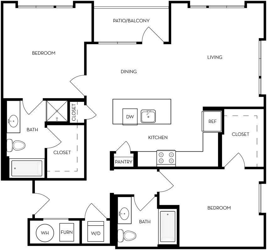 B5 two bedroom two bathroom
