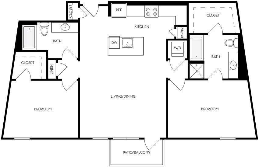 B6 two bedroom two bathroom
