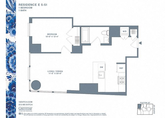 5-51E One Bedroom One Bathroom