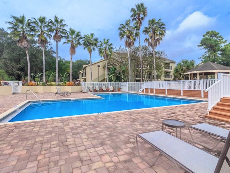 pool view at apartment