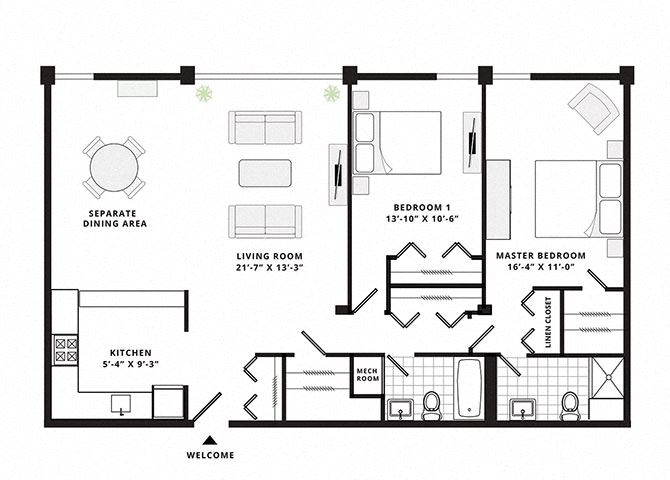 Two bedroom Two bathroom superior