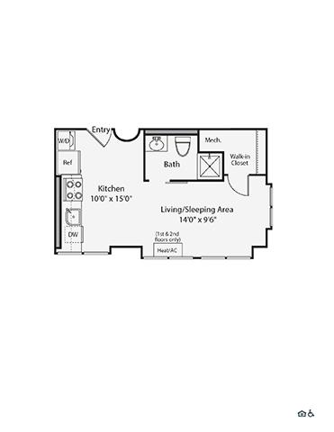 Studio, 1 Bath apartment in Cambridge, East Cambridge for $2,670
