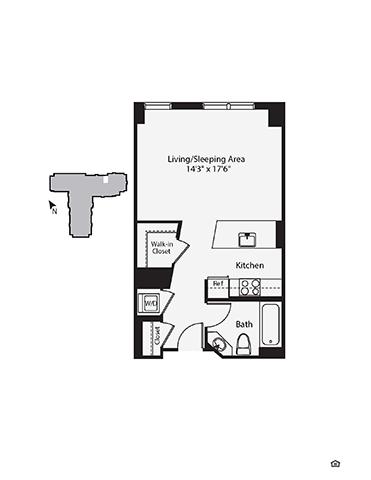 Studio, 1 Bath apartment in Cambridge, East Cambridge for $3,281