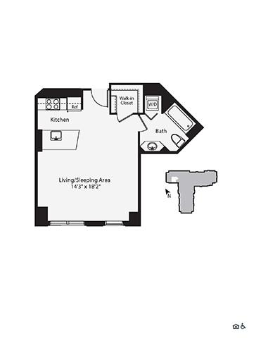Studio, 1 Bath apartment in Cambridge, East Cambridge for $3,251