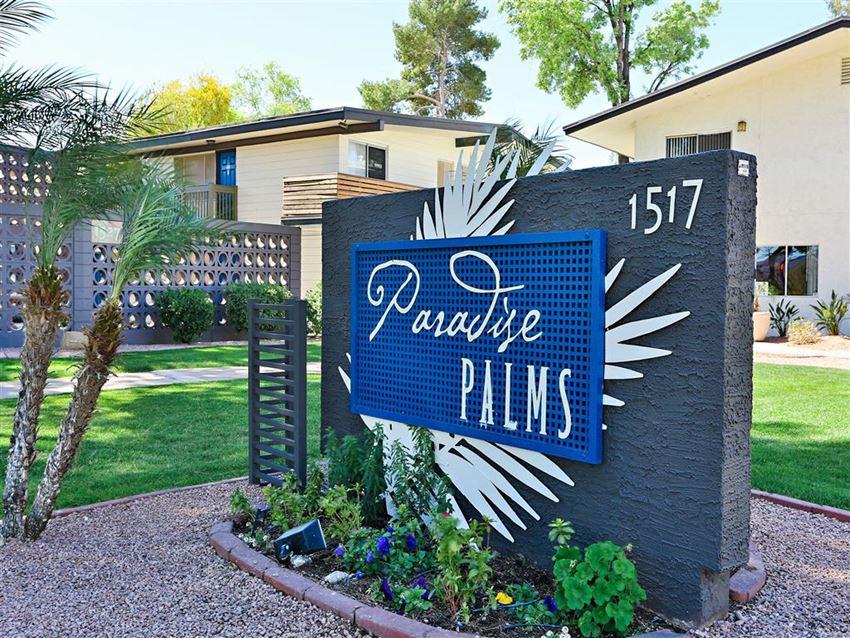 Grand Entrance Sign at Paradise Palms, Phoenix, 85014