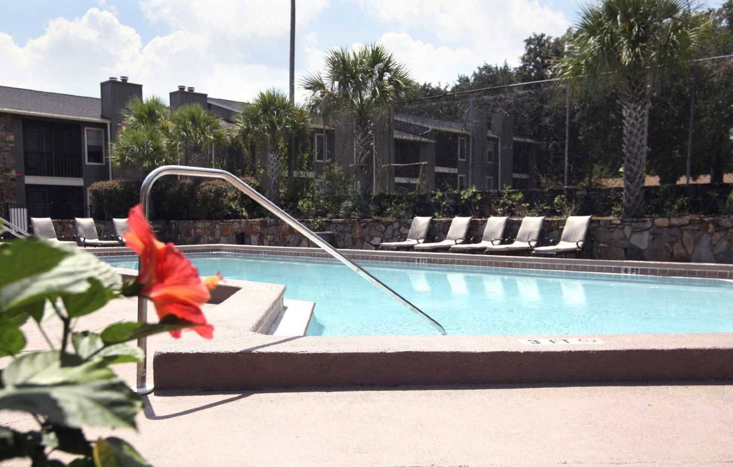 Outdoor Swimming Pool at Jasmine Creek Apartments, Pensacola, FL