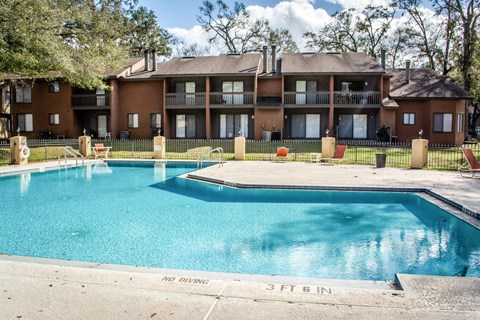 Pool view at Laurel Grove Apartment Homes, Orange Park, FL