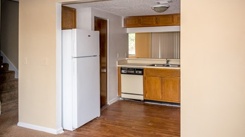 Kitchen and hallway view at Laurel Grove Apartment Homes, Florida, 32073