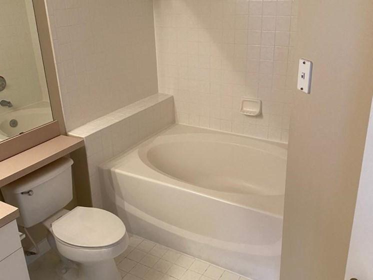 Bathroom With Bathtub at The Palms Club Orlando Apartments, Orlando, Florida