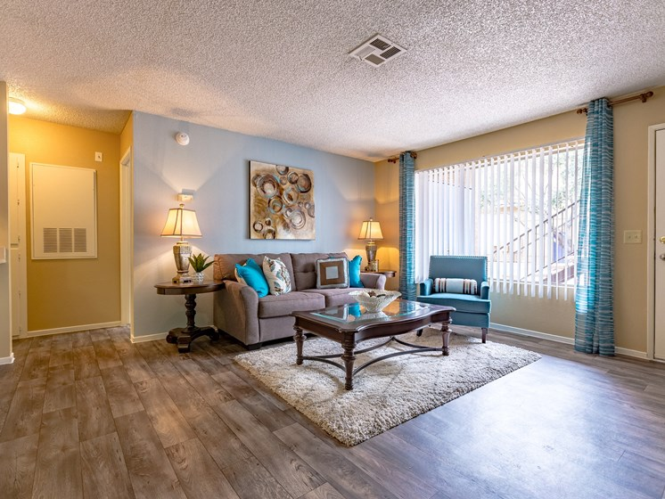 Spacious Living Room Front Door at Playa Vista Apartments, Pacifica SD Management, Las Vegas