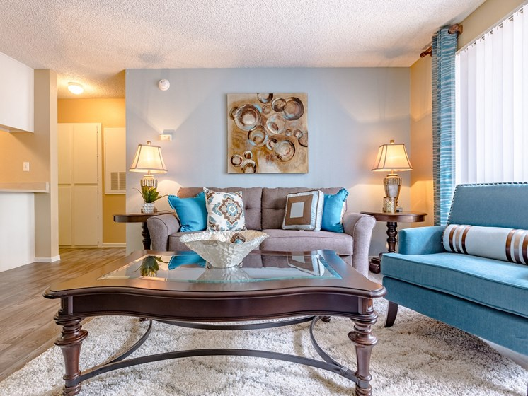 Interior Living Room at Playa Vista Apartments, Pacifica SD Management Nevada