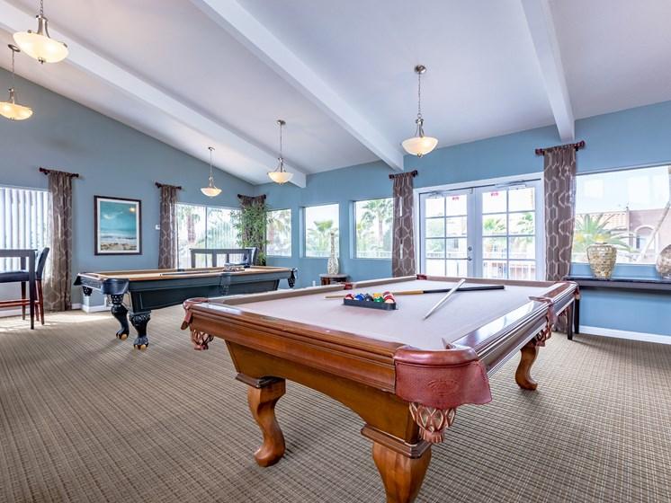 Interior Club House Pool Table at Playa Vista Apartments, PSDM, Las Vegas, NV, 89110