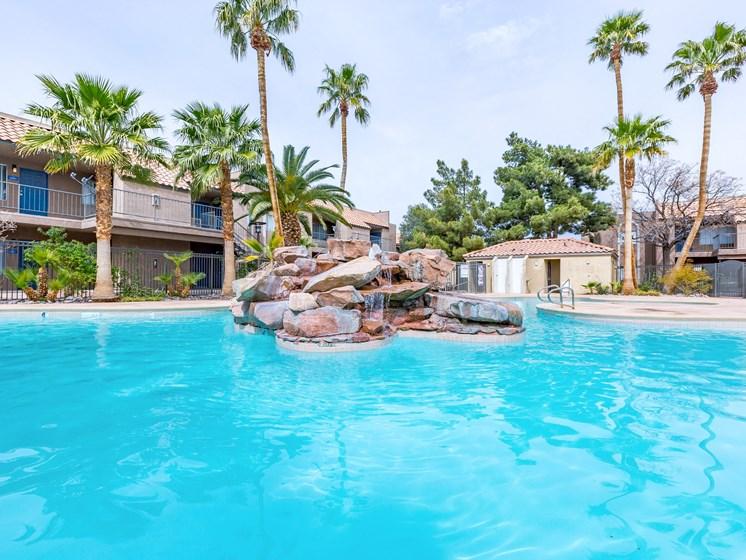 Sparkling Swimming Pool at Playa Vista Apartments, PSDM, Las Vegas, NV