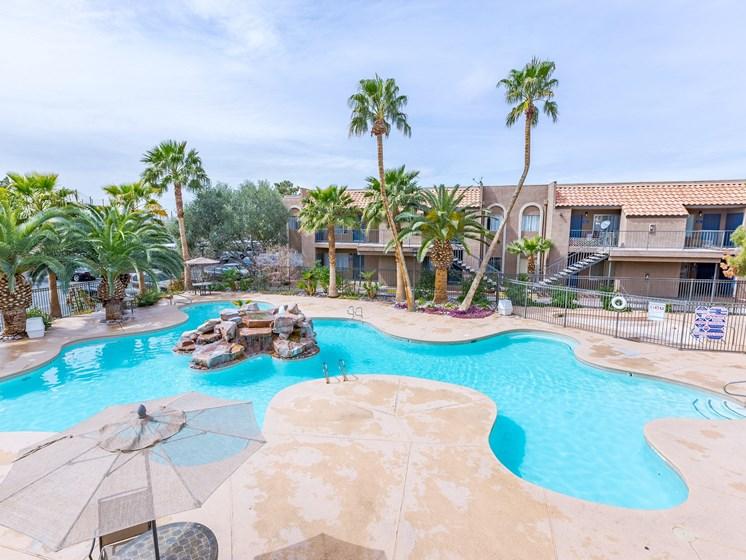 Pool Top Down View at Playa Vista Apartments, PSDM, Las Vegas, 89110