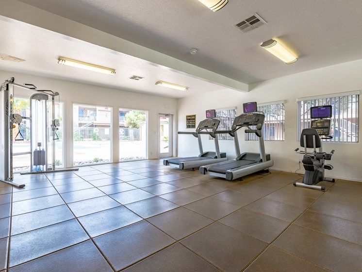 Interior Fitness Center at Playa Vista Apartments, Pacifica SD Management, Las Vegas