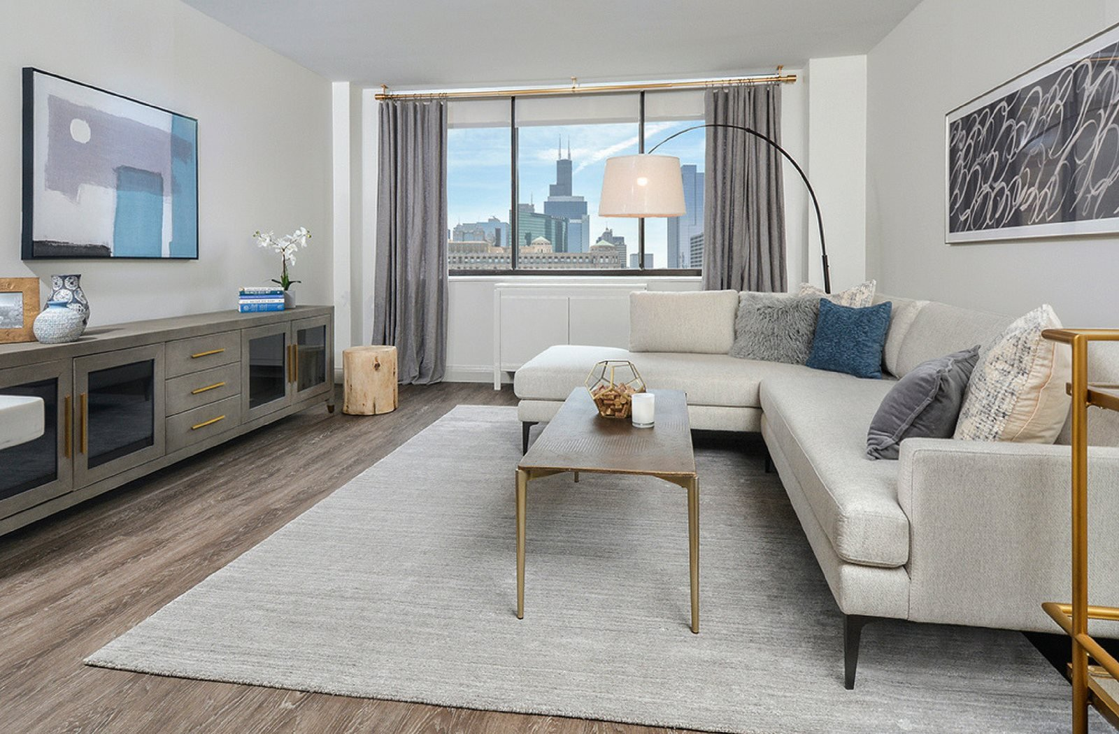 Views | Chicago Views | Large Living Room | River North | Renovated Apartments
