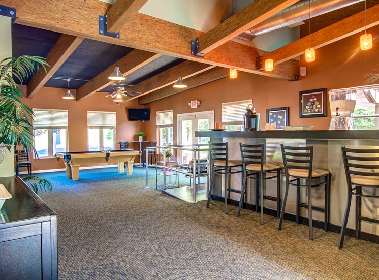Recreation Room with Coffee Bar