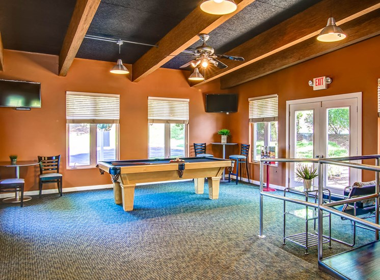 Billiards Table in Recreation Room