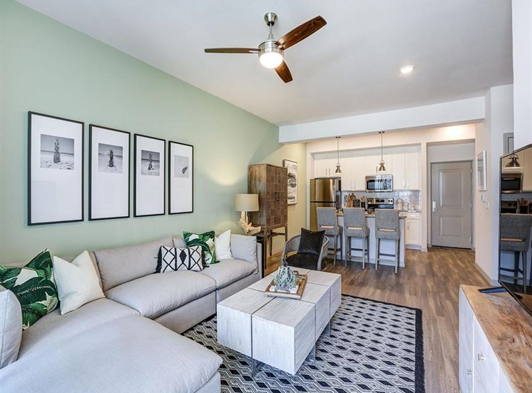 Living Room in one bedroom model apartment at Inspira, Florida, 34113