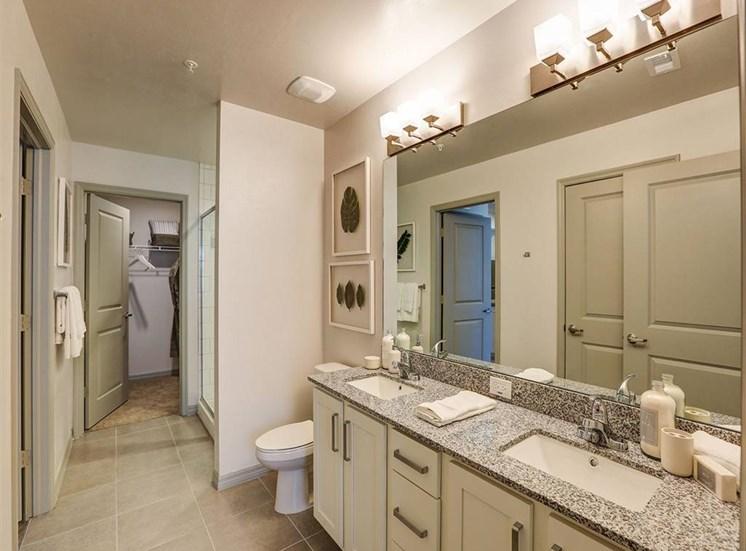 Bathroom in one bedroom model apartment at Inspira, Naples, 34113