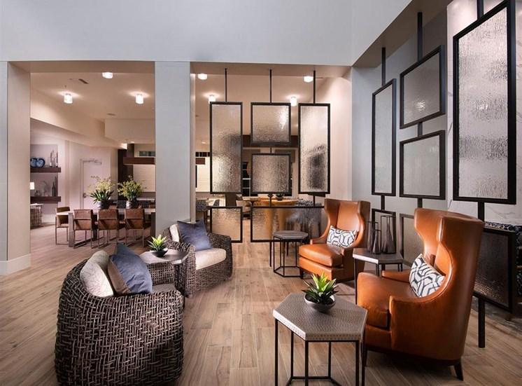 Seating in resident lounge at Inspira, Naples, FL