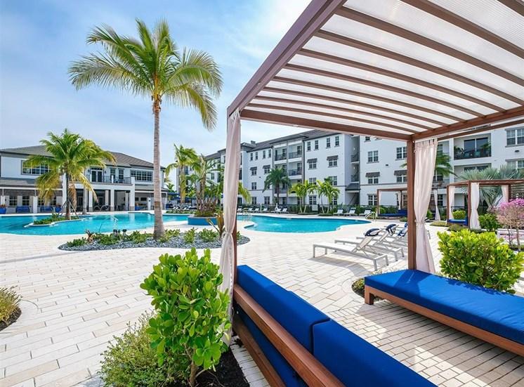 Cabana seating at the pool at Inspira, Florida, 34113