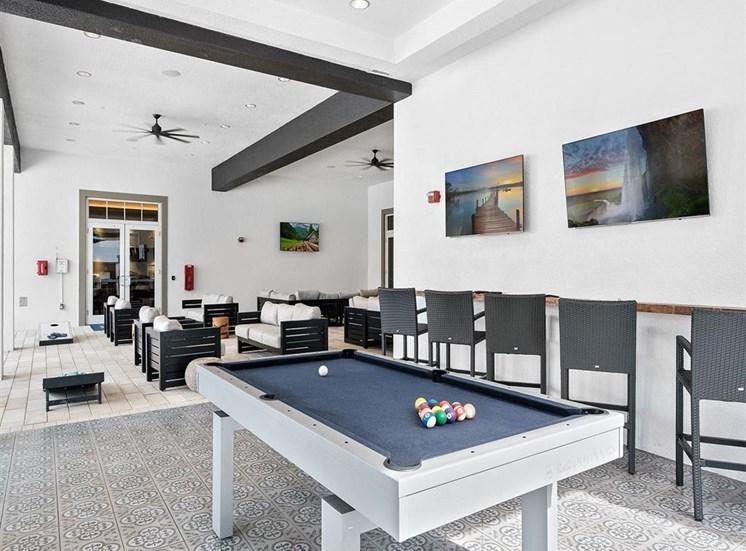 Pool Patio Billiard table at Inspira, Florida