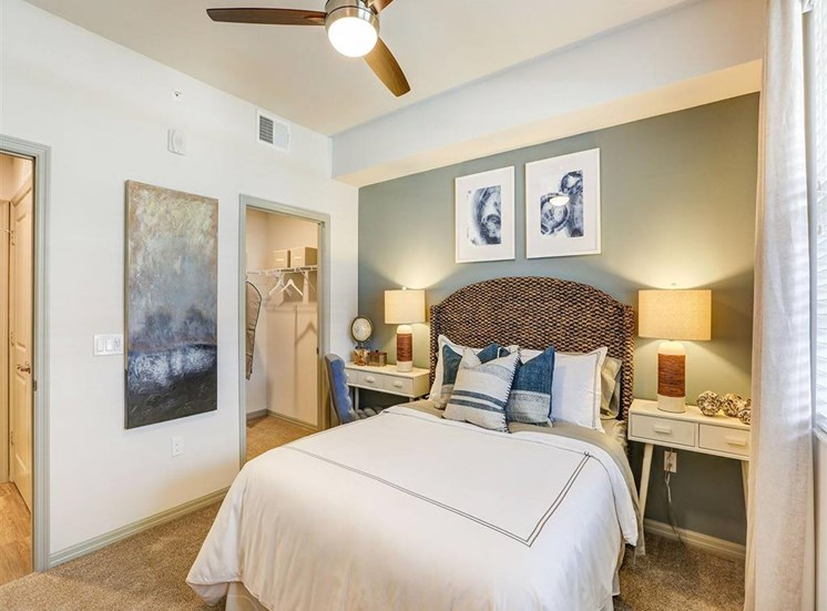Primary Bedroom in two bedroom model apartment at Inspira, Naples, Florida