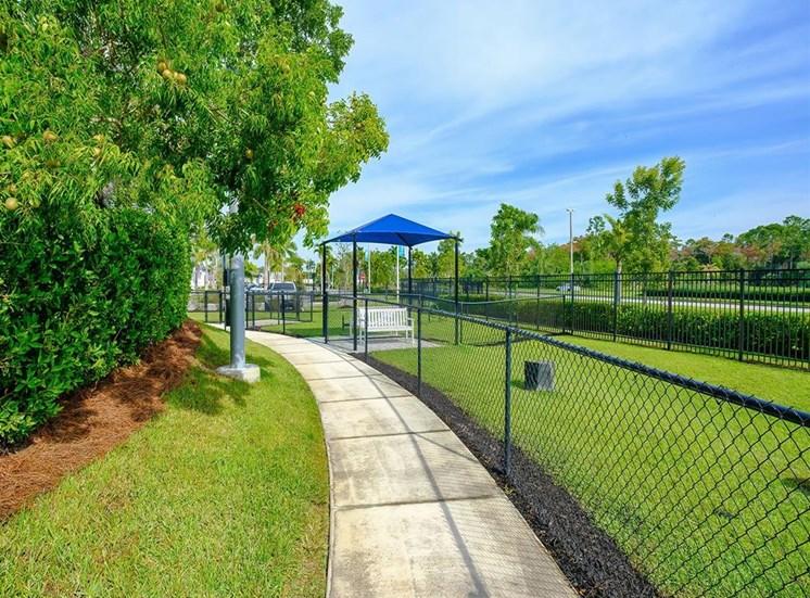 walking path by dog park at Inspira, Naples, FL, 34113
