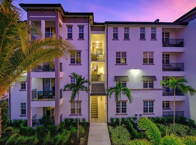 Building at twilight at Inspira, Naples, FL