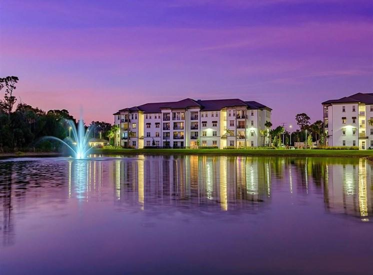 Building at twilight at Inspira, Florida, 34113