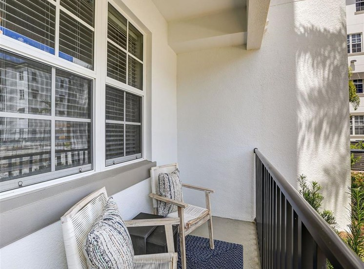 Private Patio in two bedroom model apartment at Inspira, Naples, FL