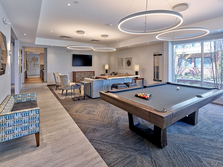 billiards table in Billiards room