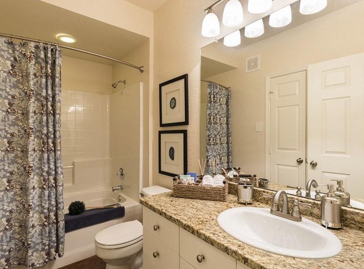 Bathroom in the Sarasota floorplan