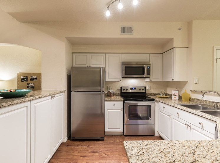 Kitchen/Dining Pass-Thru in 1-Bedroom Model