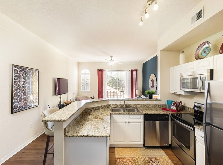 Kitchen in 2-Bedroom Townhome