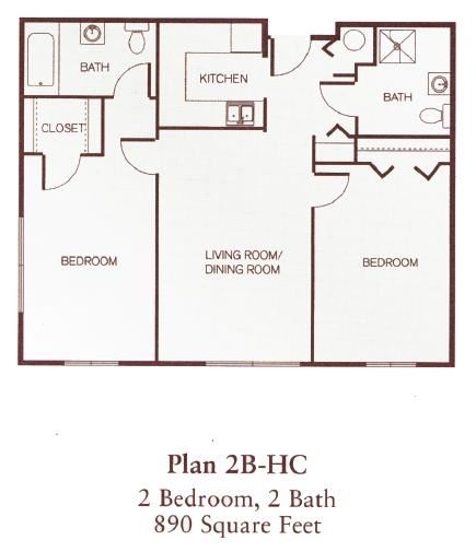 Two Bedroom- Accessible