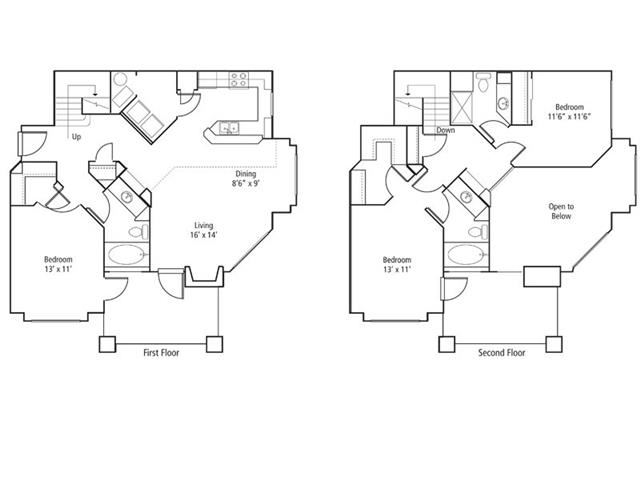 Columbine Floor Plan at The Bluffs at Highlands Ranch, Highlands Ranch, 80129
