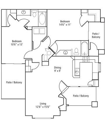 Pinion Floor Plan at The Bluffs at Highlands Ranch, Highlands Ranch, CO