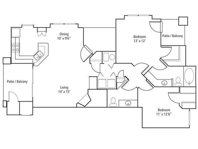 Redstone Floor Plan at The Bluffs at Highlands Ranch, Colorado, 80129