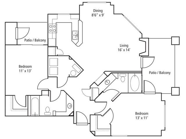 Timberline Floor Plan at The Bluffs at Highlands Ranch, Highlands Ranch, CO, 80129