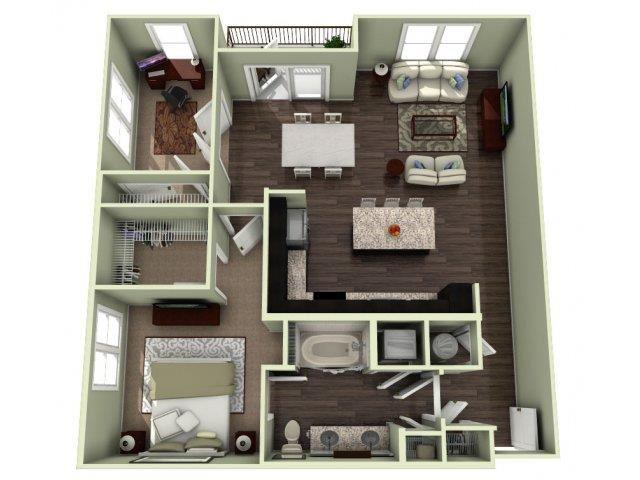 Dogwood Floor Plan at LaVie Southpark, Charlotte