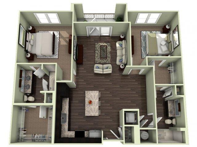 JACKSON Floor Plan at LaVie Southpark, Charlotte, NC, 28209