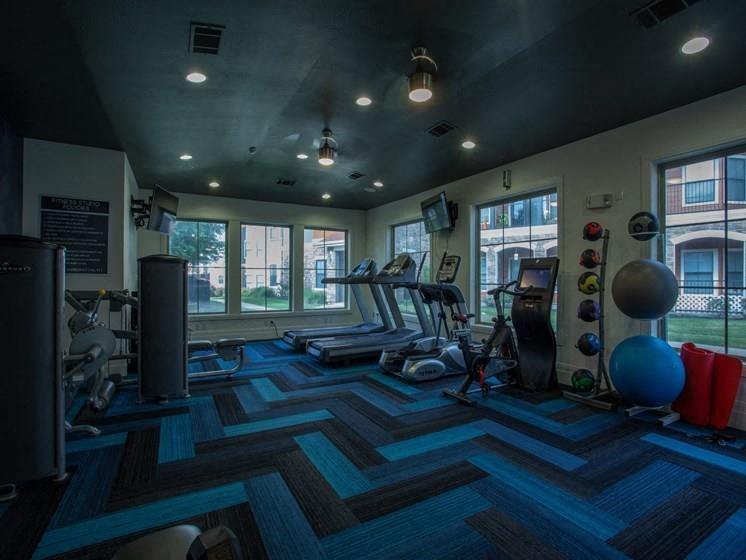 Fitness Center With Modern Equipment at Teravista, Round Rock