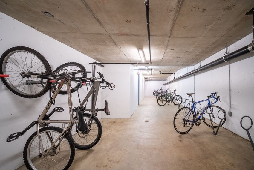Bike storage is available for all residents.