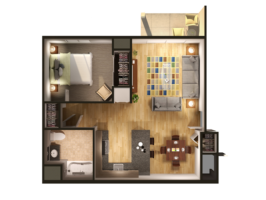 1 Bedroom at Withington Apartments in Jackson, MI 49201
