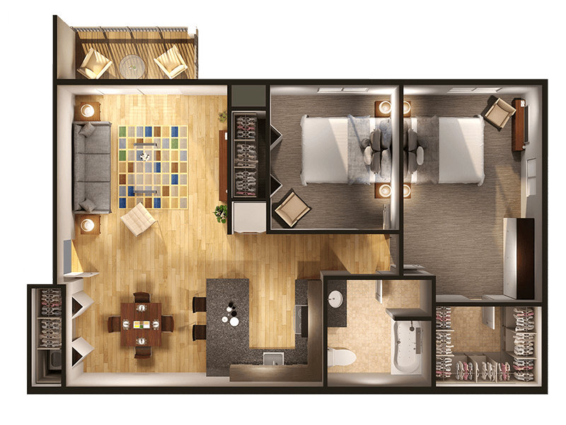 2 Bedrooms at Withington Apartments in Jackson, MI 49201