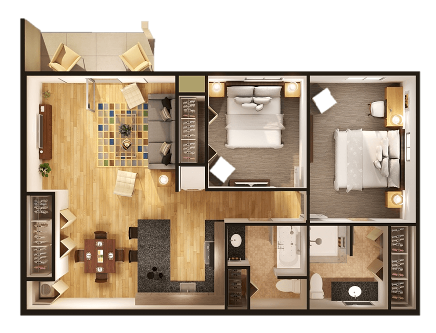 2 Bedrooms 2Bathrooms at Withington Apartments in Jackson, MI 49201