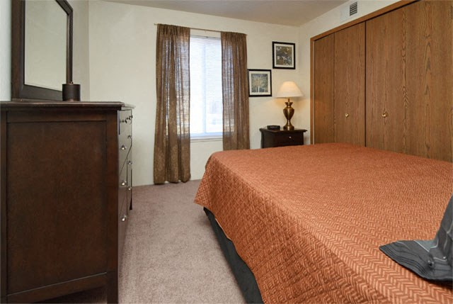 Comfortable Bedroom With Large Window at Van Horne Estates Apartments, El Paso, TX, 79934