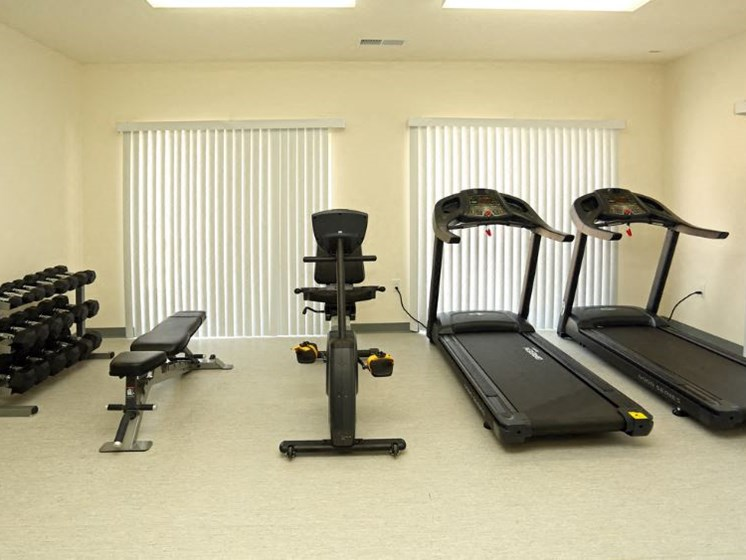Fitness Center With Modern Equipment at Walker Estates Apartments, Georgia, 30906